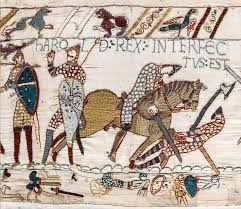 Harold's death as depicted in the Bayeux Tapestry
