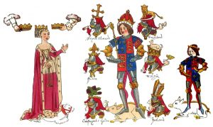 Rous Roll. Illustration of Richard III portraying him a positive light. Rous later writes negatively abour Richard, influencing his reputation in the early Tudor era
