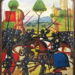 Battle of Barnet. Retouched image. From the MS Ghent.