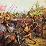 Battle of Tewkesbury. Illustration from wikimedia Commons