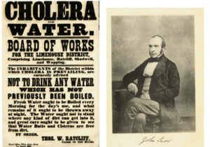 Cholera outbreaks were common in the Industrial Revolution as a result of inadequate Public Health and a lack of knowledge about Germs