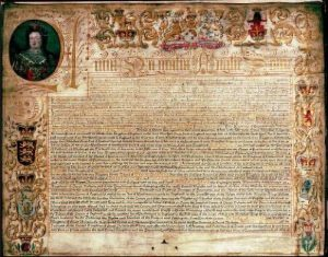 The Act of Union in 1707 created joint government for England and Scotland