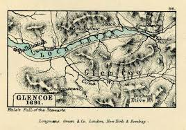Map of Glencoe, site of the massacre in 1692