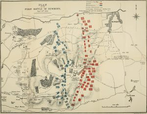 Map of the First Battle of Newbury