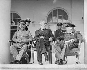 Stalin, FDR and Churchill, 1943