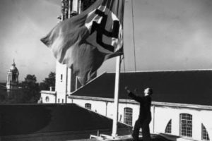 Swastika was raised over Cardiff City Hall on the orders of the Lord Mayor. This was following the Munich Agreement. The British, French and Italian flags were also flown.