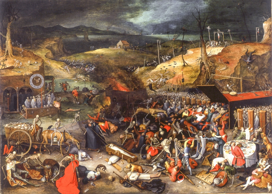 The Triumph Of Death: Image Analysis On The Black Death